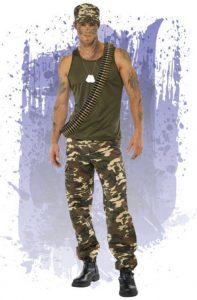 disfraz para hombre de soldado militar