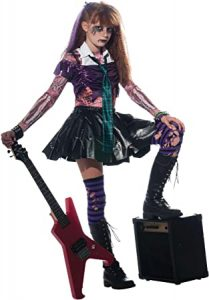 disfraz de rockera niña